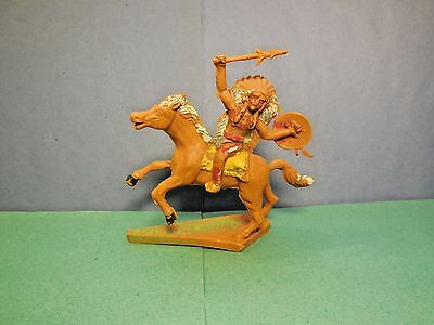 CHERILEA 60 mm Mounted Wild West Indian Vintage 1960's Plastic Toy Soldier 1:32