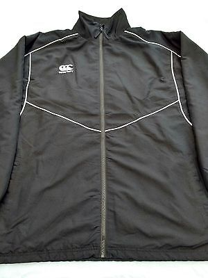 """Mens Canterbury track jacket XXL 2XL 50"""" chest black new with tags"""