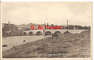 The Town Bridge, Builth Wells. A.F.S. BTHW. 18 Postcard - Not Posted