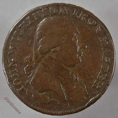 18th Century Halfpenny Wilkinson 336 1788 Barge.  Edge: Willey Snedshill etc
