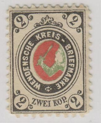 Russia Wenden Livonia Latvia Sc. L11 Coat of Arms 1884 MH P. 11 1/2
