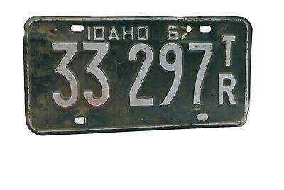 Idaho License Plate Trailer 33 297