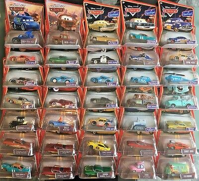 Disney Pixar Die Cast Cars -Supercharged & Various -Lizzie, Sheriff & More (5&6)