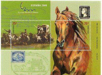 Argentina 2000 - Horse - Caballo - Cheval - Spain Philatelic Exhibition