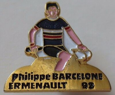 Philippe Ermenault 1992 Barcelona Spain Summer Olympic Games Cycling Pin Badge