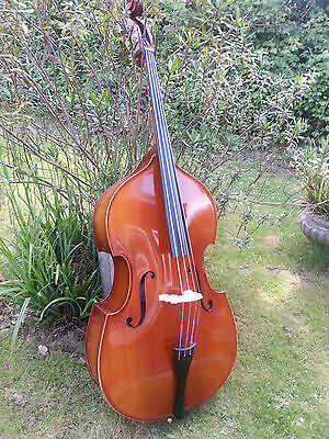 3/4 DOUBLE BASS FROM REGHIN ROMANIA 1970's.FULL OF CHARACTER WARM WOODY VOICING!