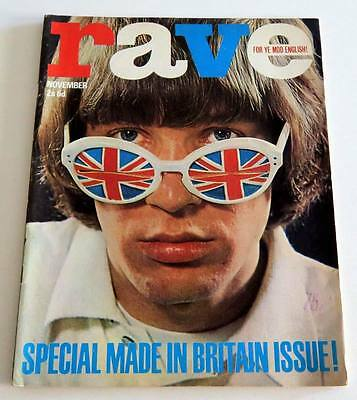 Revue RAVE 11/1965 ROLLING STONES BEATLES YARDBIRDS ERIC BURDON DONOVAN