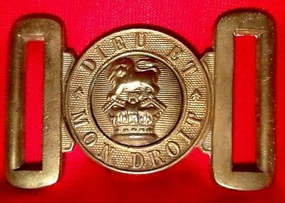 Victorian (1837-1901) Near Mint Brass British Army Belt Buckle, Victorian Crown