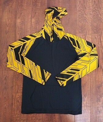 Under Armour Youth XL Black Gold Long Sleeve Pullover Hoodie Heat Gear