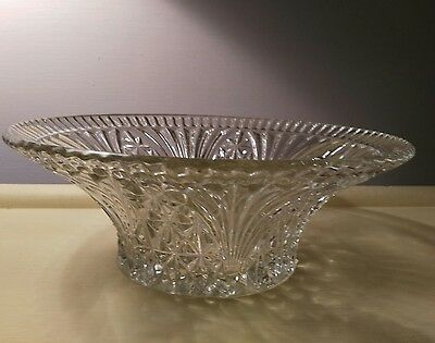 Large 1950's Pressed Glass Fruit Bowl