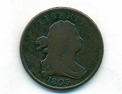 1803 Draped Half Cent  1/2C Draped Low Mintage FREE SHIPPING!