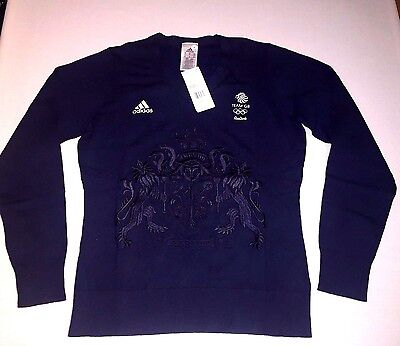 TEAM GB Embroided Jumper Sweater RIO 2016 Olympic Athlete Issue BNWT Woman UK 16