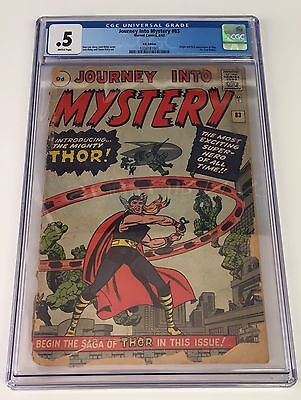 Journey Into Mystery 83 Cgc .5 - 1St First Appearance Of Thor Marvel Comics Film
