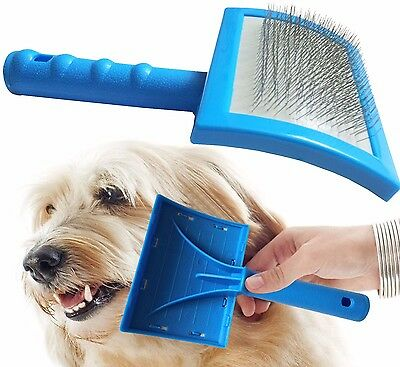 Dog Puppy Cat Pet Hair Shedding Grooming Trimmer Comb Brush Slicker Rake Tool UK