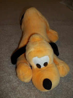 "Walt Disney World- Barking Pluto Plush- 13""--  RARE!!"