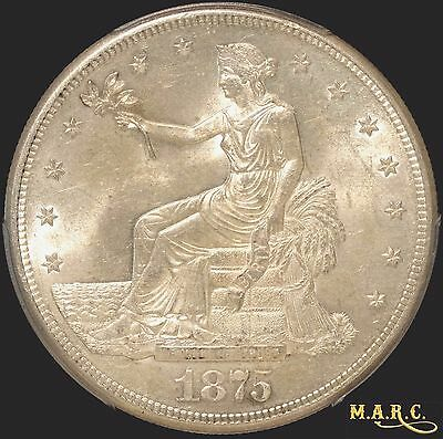 1875-S MS63 PCGS 1$ Trade Dollar, Bright and Lustrous Beauty! Free Shipping MARC