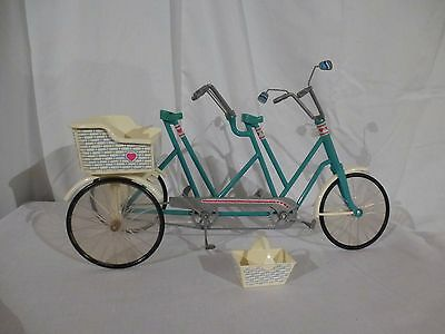 Vintage 1985 Barbie Heart Family Bicycle Built For 4 with picnic basket