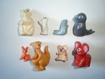 Kinder Surprise Set - Exotic Animals With Babys 1996 - Figures Toys Collectibles