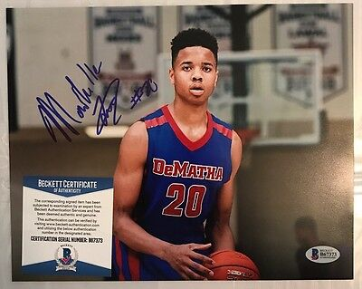 Markelle Fultz Signed 8x10 BECKETT AUTHENTICATION Bas Potential #1 Pick!!!
