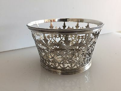 WILLIAM COMYNS ANTIQUE ENGLISH Sterling Silver Reticulated basket bowl 1898