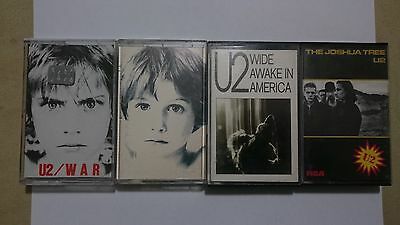 U2 - 4 cassettes from Chile. Wide Awake in America. Joshua Tree 1st edition.
