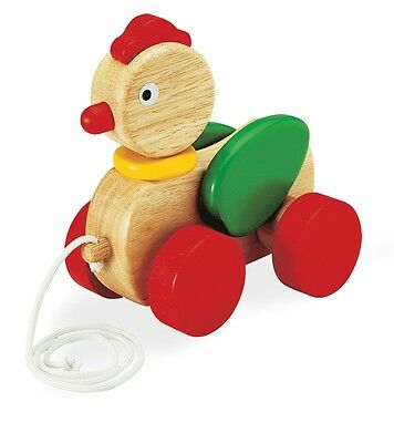 Wooden Pull Toy - Rooster - Pull Along 3105
