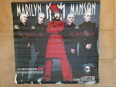 Marilyn Manson Huge Golden Age Of The Grotesque Sales Banner