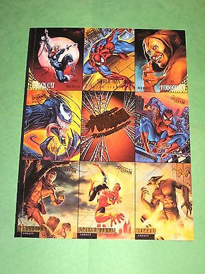 1995 Marvel Fleer Ultra Spider-Man Uncut Perforated Promo 9 Card Sheet! Venom!