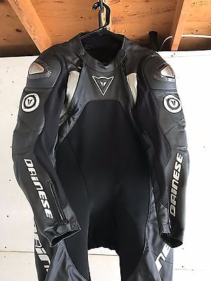 Extremely Rare Dainese Sukhoi Titanium One Piece Leather/ Race Suit Size (56)