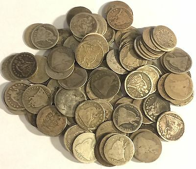 Lot of 100 Seated Dimes