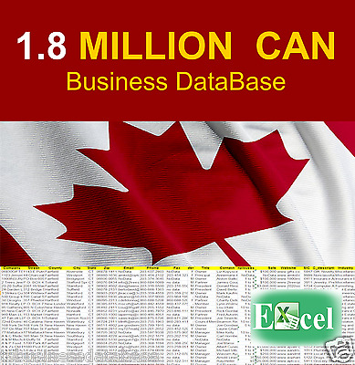 1.8 MIL CANADA BUSINESS DATABASE - Email List Company Marketing List Sale Leads