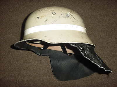 Army German Firefighter Steel Helmet Germany Fireman with Leather Head Liner