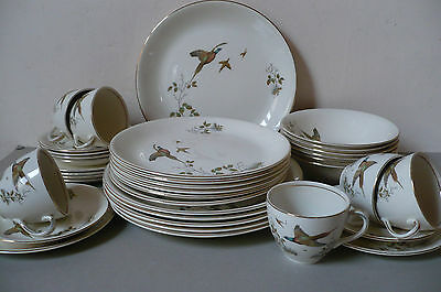 Alfred Meakin 36pce Dinner Set. 'Pheasant' Complete, Excellent Cond. 1930's