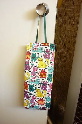 Hanging Three/ Tow Rolls Toilet Paper Storage / Holder, Cats, Cats,handmade,