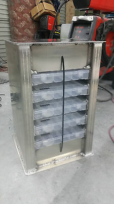 Boat seat box with Tackle Trays unpainted, send postcode for freight cost
