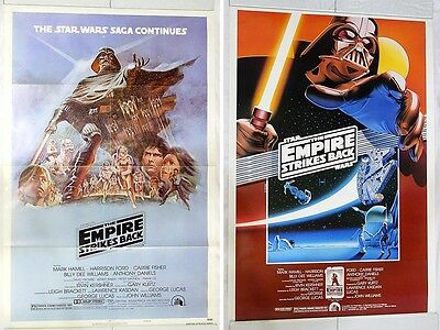 Vintage Star Wars Empire Strikes Back Theater Style B & 10th Anniversary Posters