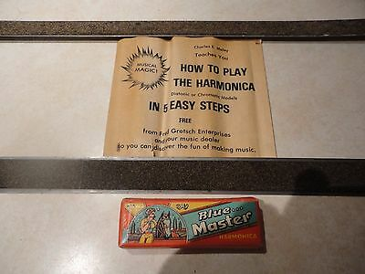 Vintage Blues Master Harmonica Made In India,Playing Instructions