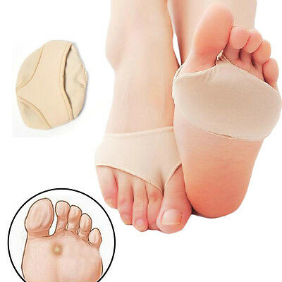 2Pcs Fabric Gel Metatarsal Pads Ball of Foot Gel Pads Cushions Support