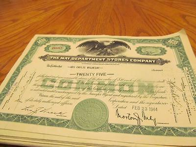 50 May Department Stores Stock Certificates From The 1940's