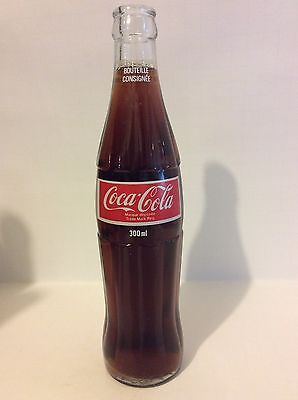 Vintage French/Canada Coca Cola Clear Glass Bottle Foreign? 300ml.(?)