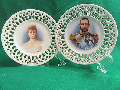 George V & Queen Mary 1911 Coronation Plate Set by Victoria Austria