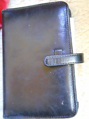 Vintage coach mini small leather planner 6 ring, black