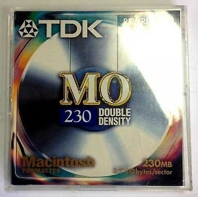 TDK-MO-230-FORMATTED MACINTOSH (I6a)