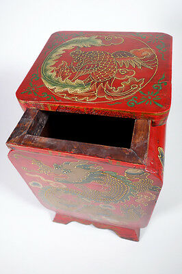 Authentic Rare Original Old Hand Painted Hand Crafted Tibetan Stool, circa 50's