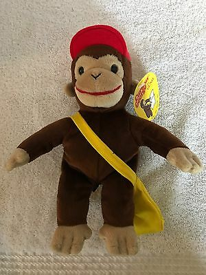 New With Tag Gund Curious George Stuffed Animal #7556 Red Hat With Morning Star