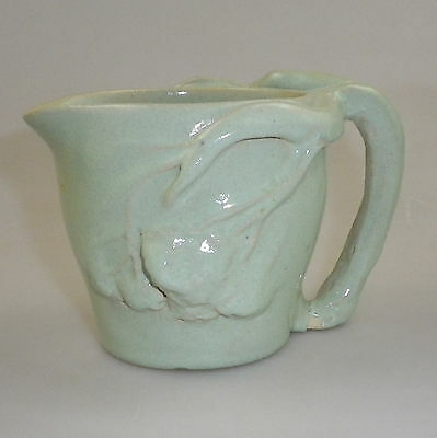 Vintage Australian Pottery Jug with Branch Handle and Applied Gum Nuts