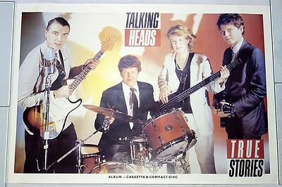 Vintage Talking Heads Alternative Rock Band True Stories Poster 22 x 33 Rolled