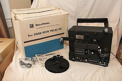 Bell & Howell, 600ZRX, Sound Projector, Box, Manual, Microphone.