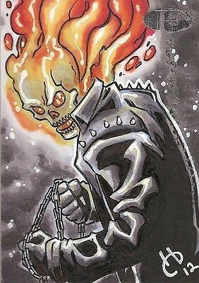 2012 Marvel Premier GHOST RIDER sketch by Harold Edge