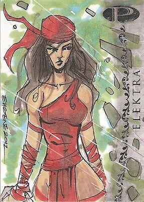 2012 Marvel Premier ELEKTRA sketch by Eugene Commodore